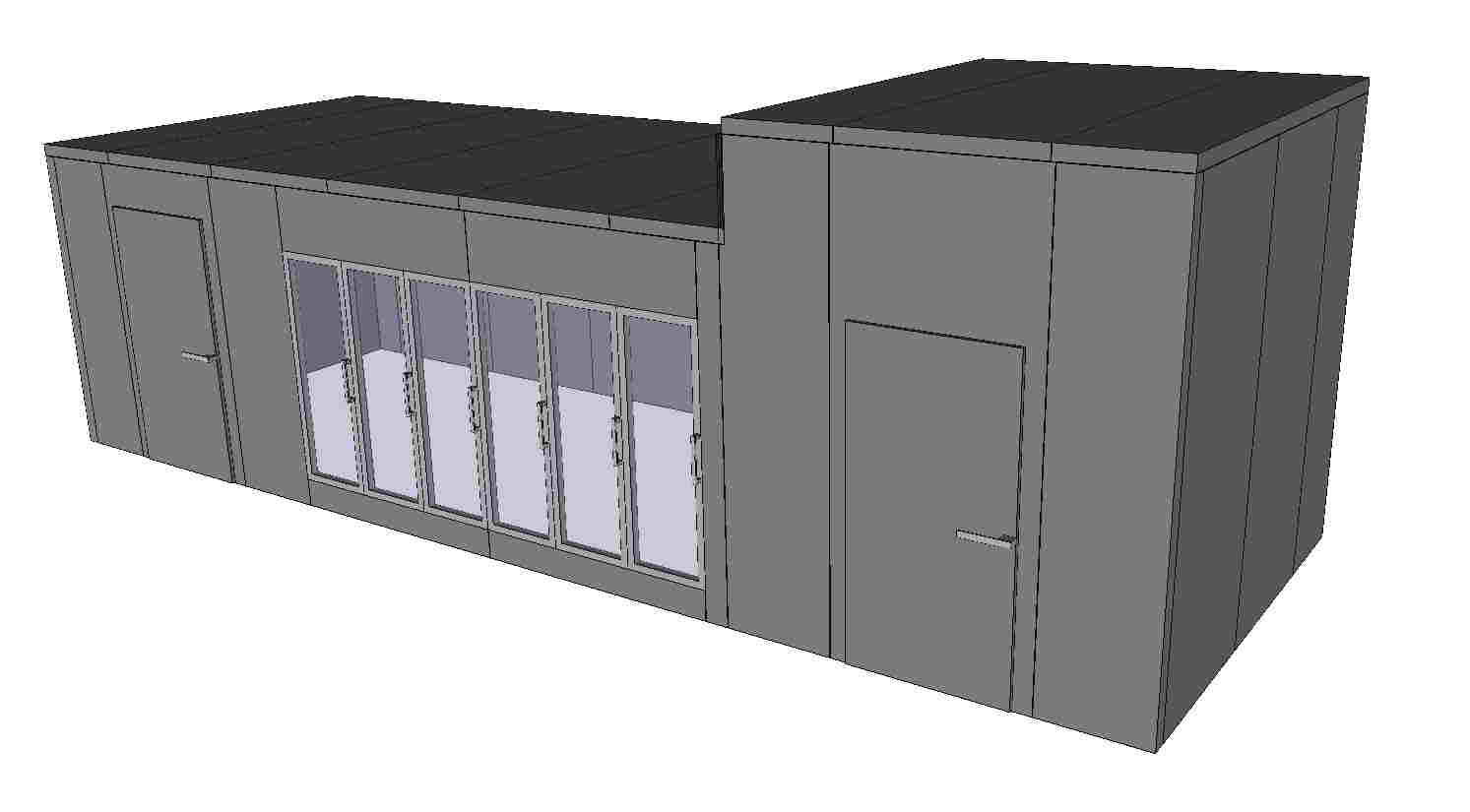 3D multiple height coldroom coldstore